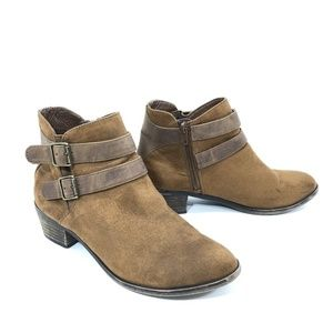 Madden Girl Brown Vegan Suede Heeled Booties